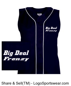 Womens Tag Up Full Button Sleeveless Softball Jersey Design Zoom